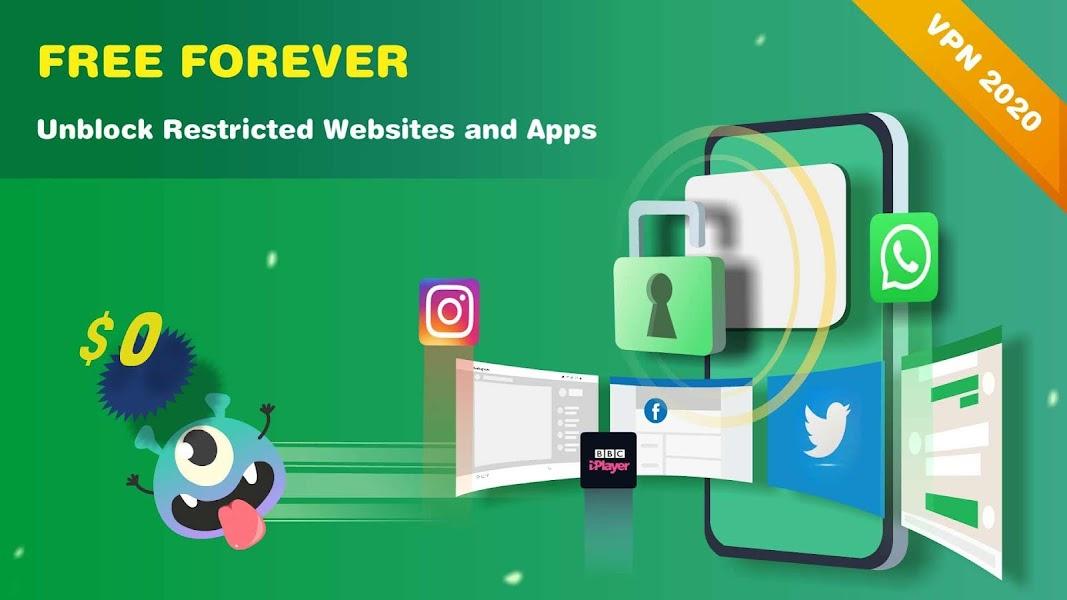 Monster VPN - Free Forever & Security VPN Proxy