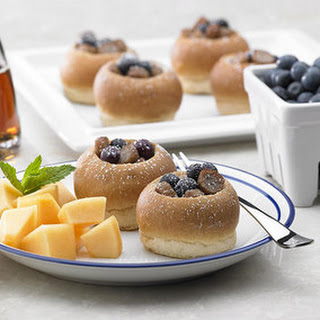 Breakfast Sausage Blueberry Tart.