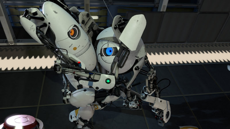 portal 2 robots hugging. modern-gamer.com - Portal 2 is