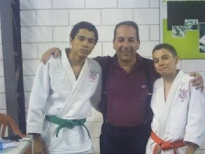 Photo: judocas Rogério e Vinícius.