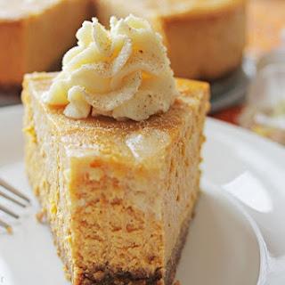 Pumpkin White Chocolate Swirl Cheesecake.