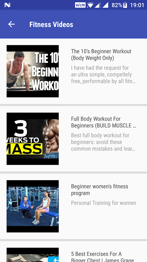 Fitness Guide- screenshot