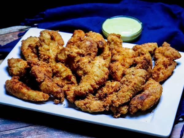 A Platter Of The Best Darn Chicken Tenders.