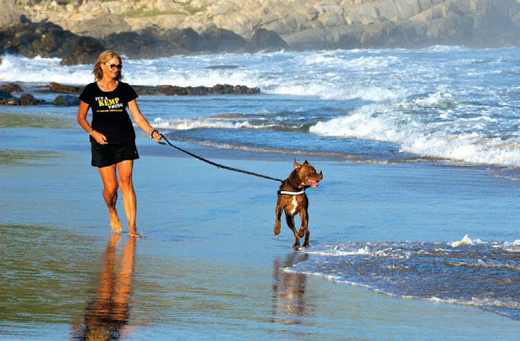 Animal rights activist Marizanne Kemp Ferreira loves the beach at Sardinia Bay