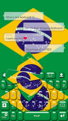 ブラジルのキーボードのテーマ