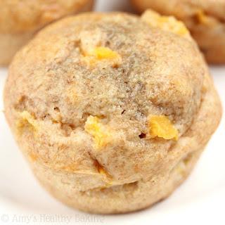 Whole Wheat Honey Peach Muffins.