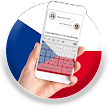 Czech Republic Flag Keyboard - Elegant Themes APK