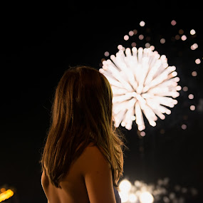Watching by Damon Hensley - Public Holidays July 4th ( watching, fireworks, july 4th )