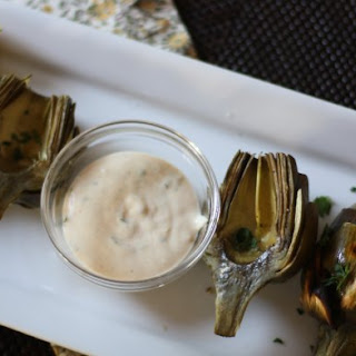 Grilled Artichokes with Rémoulade dipping sauce