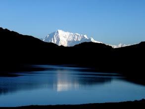 Photo: NAPA in Morning light from Sheoshar Lake, ca. 55 km away
