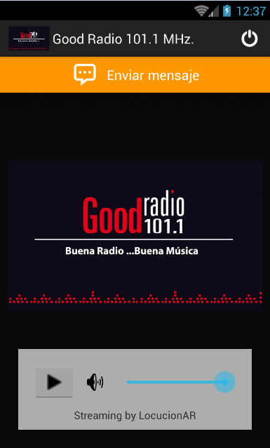 Good Radio 101.1 MHz.- screenshot