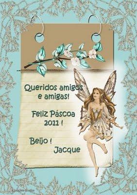 Cartão da Páscoa da Amiga Jacque