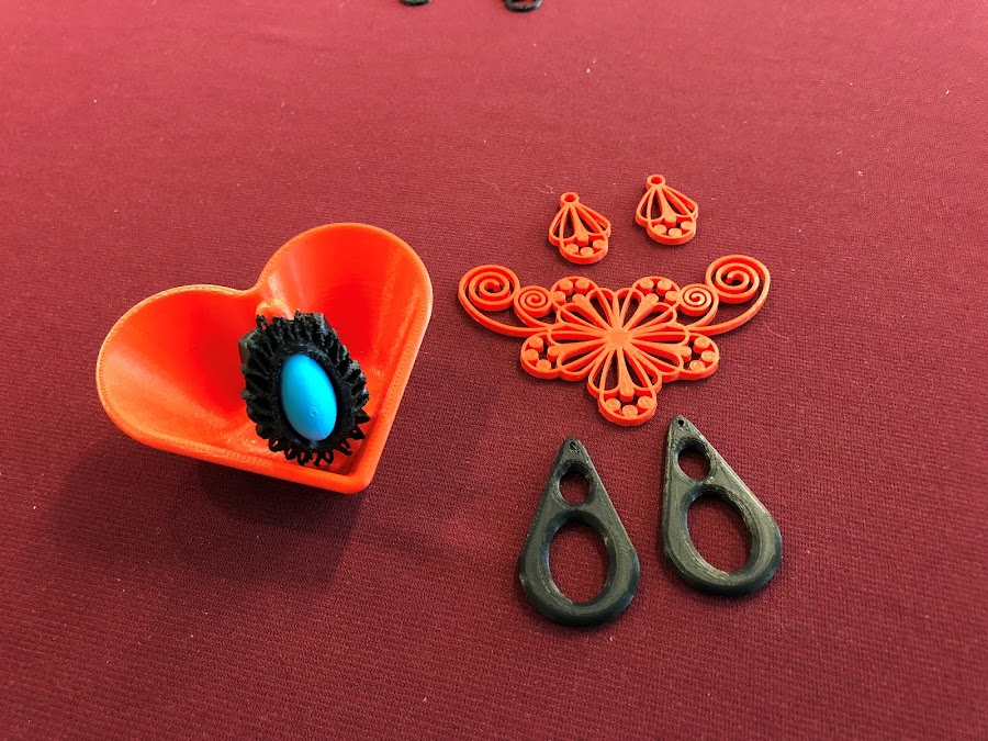 Some 3D printed items for a Fashion Department project.