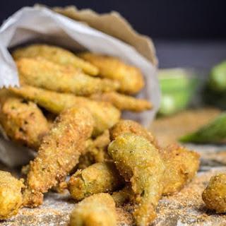 Crispy Fried Okra with Cajun Spices