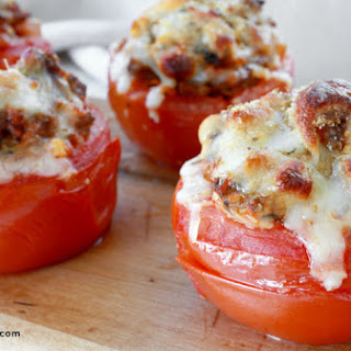 Supreme Pizza-Stuffed Tomatoes