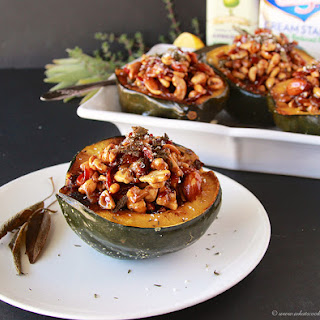 Acorn Squash with Swanson Maple Cream Filling