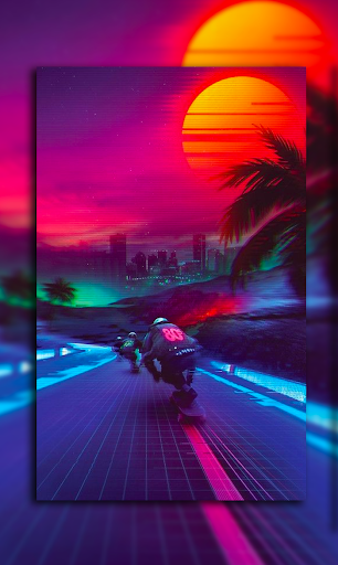 80s Wallpaper Rad Cool Vaporwave App Report On Mobile