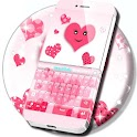 Coeurs roses clavier icon