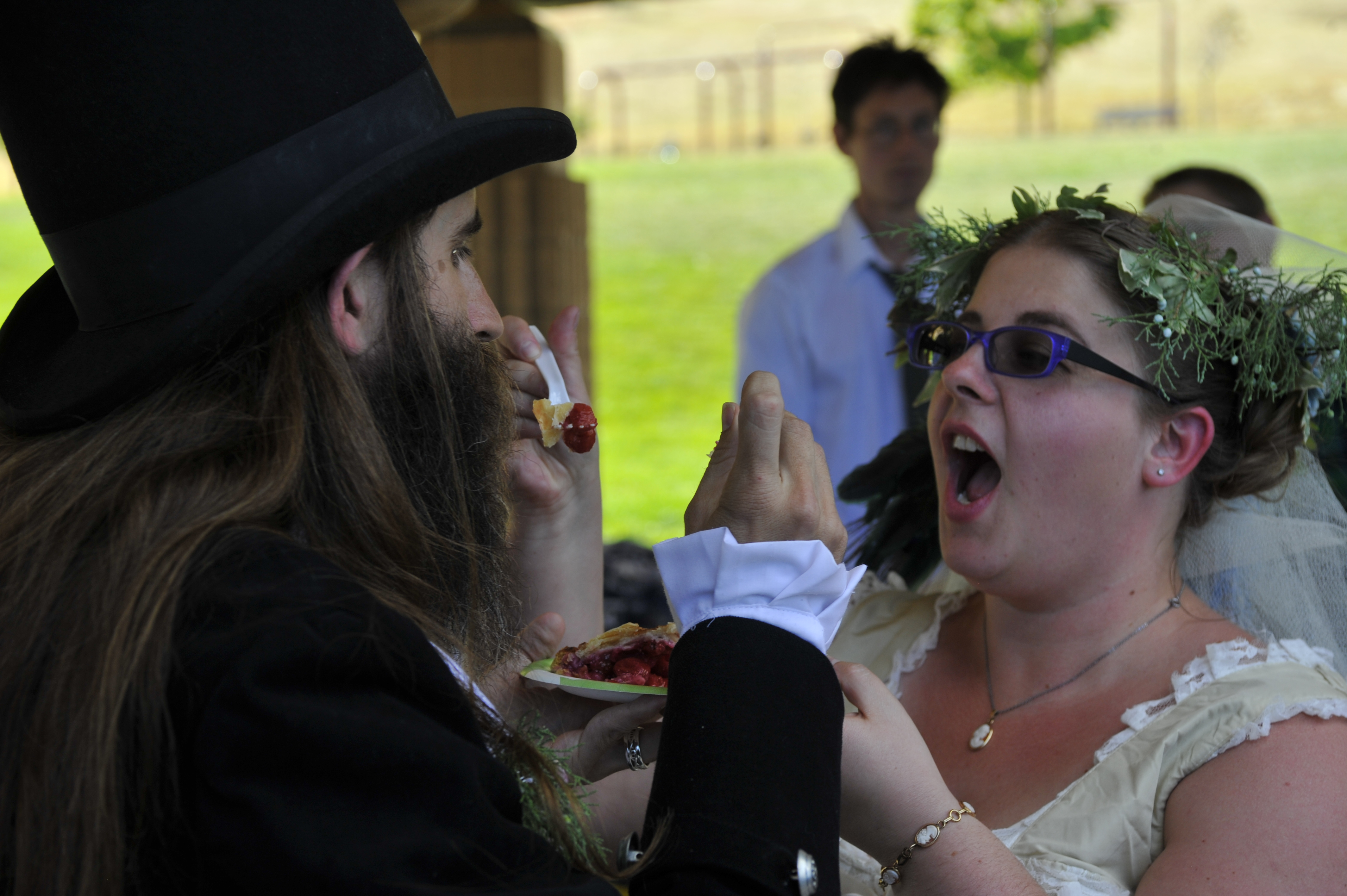 Photo: Our first bite as a married couple