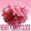 Heart Flower Clock Widget icon