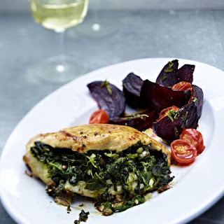 Spinach and Date Stuffed Chicken.