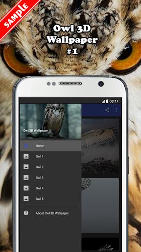 Owl 3D Wallpaper screenshot 1 ...