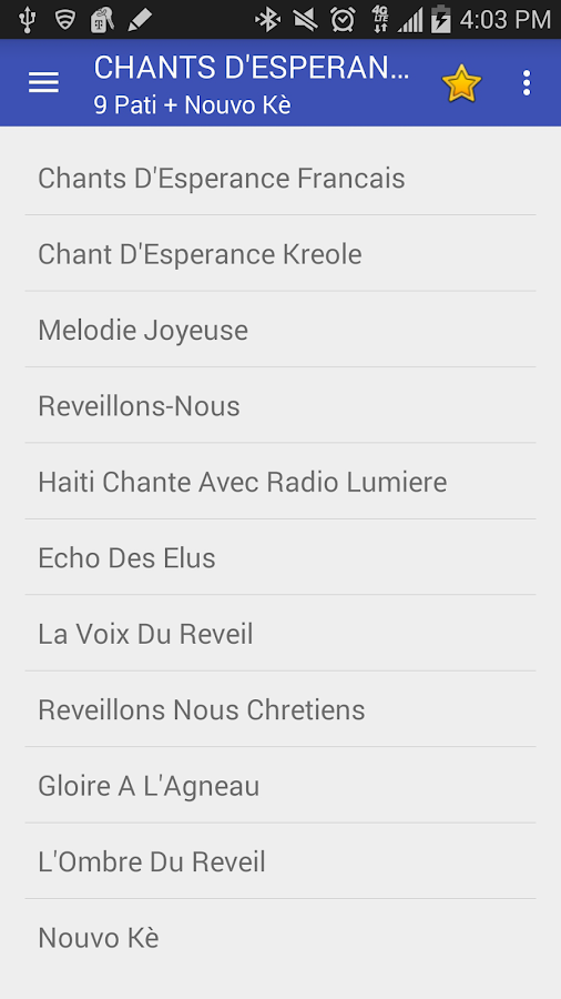Chants D'Esperance- screenshot