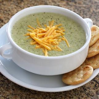 Easy Crock Pot Broccoli Cheese Soup.
