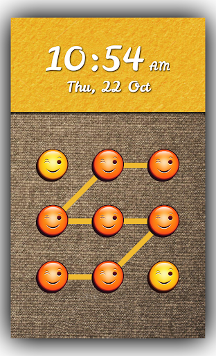 Smiley Emoji Pattern Lock