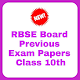 RBSE Board Previous Exam Paper Class 10th APK