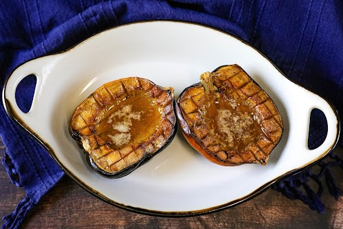 Acorn Squash Baked in Butter and Maple Syrup