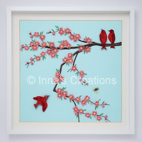 Japanese cherry blossom, quilled picture