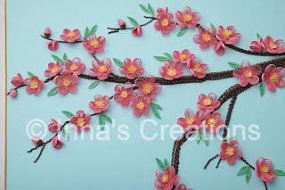 Cherry flowers, detail