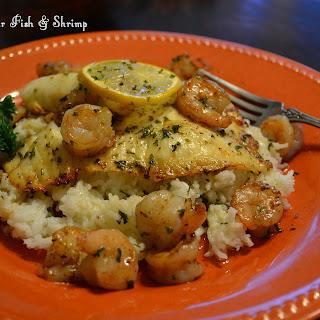 Browned Butter Fish & Shrimp.