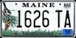 Image of the Maine state license.