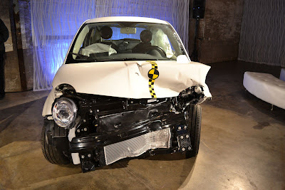 US Fiat 500 crash test car