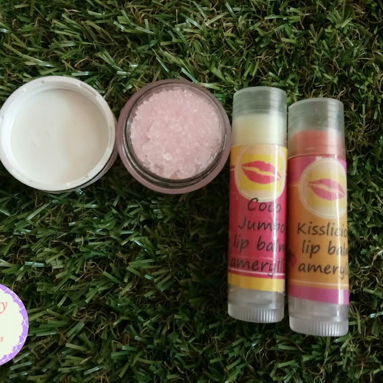 Kissylicious lips scrub set by ameryllis nature soap