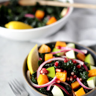Glowing Kale And Persimmon Citrus Salad.
