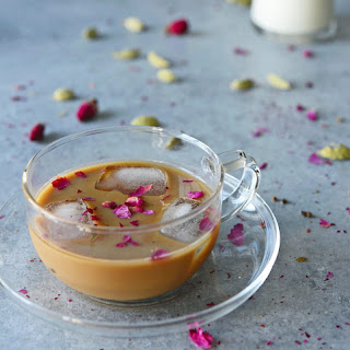 Cardamom Rose Iced Coffee