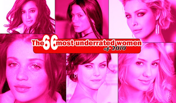 The 66 most underrated women of 2010  #bad girl:celebrities,beautiful girls,big girl,bad girl,find a girl,pretty girls,fashion girl