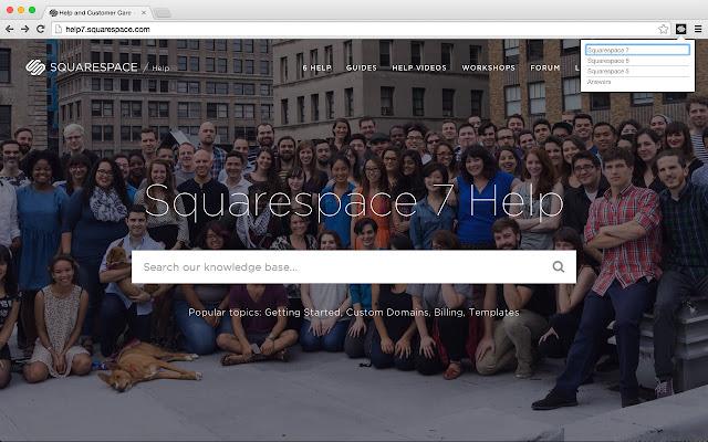 Squarespace Help Toolbar