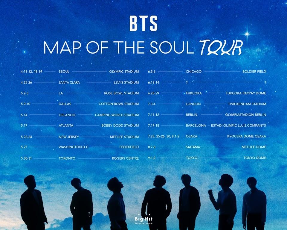 bts map of the soul tour dates 1