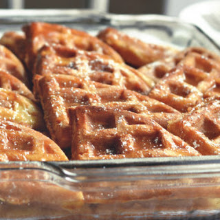 Waffle French Toast Bake with Browned Butter Maple Syrup
