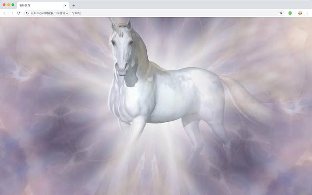 Unicorn Popular Myths HD New Tabs Themes