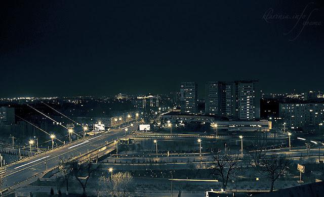 ночной Ташкент с 16-этажки