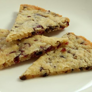 Orange Chocolate Cranberry Shortbread