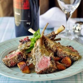 Parmesan Panko Crusted Rack of Lamb.