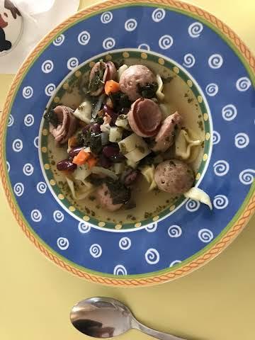 Kale and Kielbasa Soup
