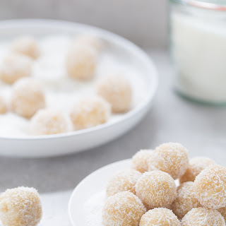 Almond Coconut Snowball Cookies.