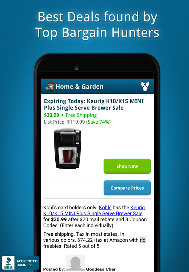 Catch the best deals, coupon codes and printable coupons for Amazon, Kohls, Target, Best Buy, Home Depot and thousands more, updated daily.